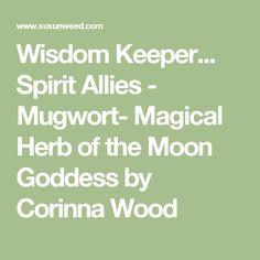 Wisdom Keeper... Spirit Allies - Mugwort- Magical Herb of the Moon Goddess by Corinna Wood