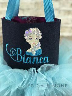 de Blue Inspired Ballet Tote F cumpleaños Elsa Denim Regalo Toy Bag Light Tutu Frozen qPWFwAS0