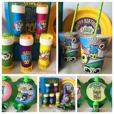 Teen Titans Go party supplies, decor and favours customised in any theme @KidzPartyCorner www.kidzpartycorner.co.za
