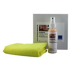 CLEANHOME UniQuick SAUBER+PFLEGE-SET für glänzende Küchen- und Möbel-Oberflächen  Spezielles Küchen-Reinigungs- und Pflege-Set extra für Hochglanzfronten mit Hochglanzlackierung und Hochglanzfolierung. Reinigt, pflegt und versiegelt die glänzenden Oberflächen ohne den Einsatz von Wasser und ergibt einen tiefen Glanz.