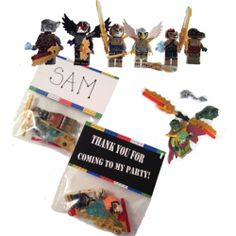 24 legends of chima figures birthday party favor bags amp tags