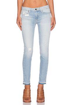 GENETIC LOS ANGELES Raw Frayed Hem Zephyr Mid Rise Crop Denim Jeans Pants $219 #GENETICDenim #SlimSkinny