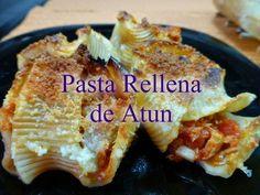 Recetas Caseras Fáciles MG: Pasta rellena de atún Chorizo, Relleno, Tacos, Pie, Ethnic Recipes, Desserts, Food, Al Dente, Stuffed Shells Recipe