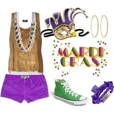 mardi gras outfit for when we go back