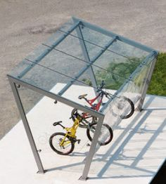 Public area bike rack / sheltered - EDGE - mmcité 1 a.s.