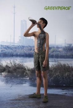 Greenpeace - Water for children | #ads #marketing #creative #werbung #print #advertising #campaign < found on www.saatchiblog.ru pinned by www.BlickeDeeler.de | Follow us on www.facebook.com/blickedeeler