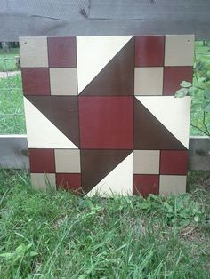 """A long-time friend of mine, Jerrie, from my home town is a very gifted """"barn quilter. Barn Quilt Designs, Barn Quilt Patterns, Quilting Designs, Quilting Patterns, Painted Barn Quilts, Barn Signs, Barn Wood Crafts, Barn Art, Metal Barn"""