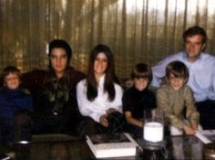 Elvis with Priscilla's brothers and sister, Michelle.