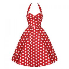 Wholesale Vintage Halterneck Backless Polka Dot Print Ruffled Sleeveless Dress