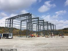 From a stack of steel arriving Monday to 12,500 sf of erected steel by Wednesday!