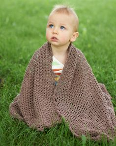 This lightweight crochet blanket is a great addition to any nursery. Shown in Bernat Cotton-ish by Vickie Howell.
