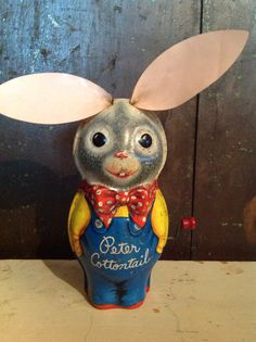 A personal favorite from my Etsy shop https://www.etsy.com/listing/226952977/1953-metal-bunny-rabbit-peter-cotton