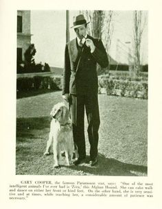 Gary Cooper and his Afghan Hound Zora.