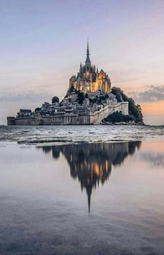 Le Mont-Saint-Michel is an island commune off the coast of Normandy, France. and is 100 hectares acres) in size. Beautiful Castles, Beautiful Places, Beautiful Pictures, Amazing Photos, Wonderful Places, Places To Travel, Places To See, Places Around The World, Around The Worlds
