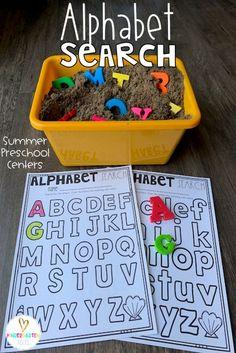 Summer Centers for Preschool - Kindergarten Rocks Resources