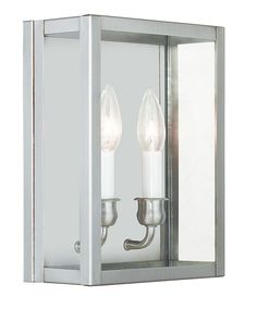 Livex Lighting Milford Brushed Nickel Wall Sconce 4030-91  sc 1 st  Pinterest & Milford 2 Light Wall Sconce | Products | Pinterest | Sconces ... azcodes.com
