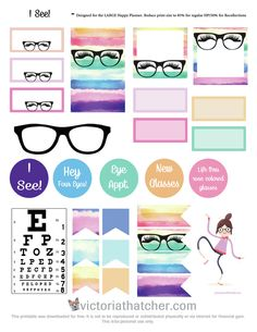 """FREE """"I See"""" Planner Stickers by Victoria Thatcher"""