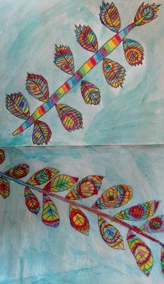 Abstrakte Herbstblätter Tableware, Painting, Art, Fall Leaves, Dinnerware, Dishes, Painting Art, Paintings, Kunst
