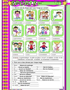 Le français du Siècle: 2º ESO Badminton, French For Beginners, French Worksheets, French Education, French Grammar, News Cafe, Le Tennis, Store 3, Teaching French