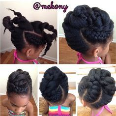 Meko, New York Natural Hair Care Spa & Boutique... Pretty Little Natural Simple Yet Elegant Updo This style can be worn for any occasion and can last up to one week with proper care. #mekony#mekonewyork#naturalupdo#naturalstyles#teamnatural#healthyhairjourney#naturalhairdaily#naturalsalon#naturalsalonnj#naturalhairinspiration#naturalhaircarepro#naturalhaircarestylistnj#kidstyles#tendrilsandcurls#teamnatural_#theblackhairguru#thenaturalhaircarecoach #tobnatural