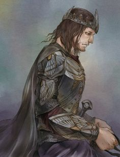 Tags: Anime, Fanart, The Lord of the Rings, Pixiv, Aragorn