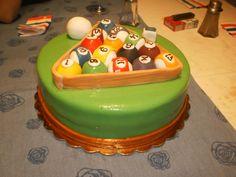 Rack Em Food Pool Table Cake Pool Cake Cupcake Cakes