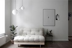 Karup Design Bäddsoffa Roots 140 Rå Bas - Natur - Bäddsoffor - Ellos.se Sofa Design, Canapé Design, Furniture Design, Interior Design, Happy New Home, Futon Sofa Bed, Mattress Dimensions, Compact Living, Furniture Makeover