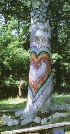 painted tree outdoor - Google Search