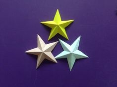 How to make a 3D paper star | Easy origami stars for beginners making | DIY-Paper Crafts - YouTube