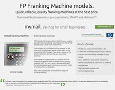 Our franking machines models. http://www.fp-franking-machines.co.uk/franking-machines.html