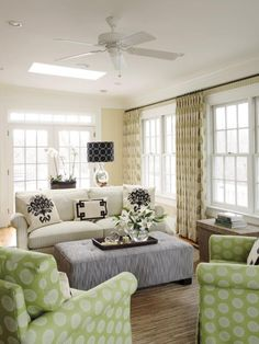 Double the Function - Living Room Seating Options on HGTV