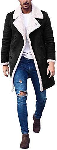 CBTLVSN Mens Winter Lined Hooded Full Zip Sherpa Fleece Heavyweight Coat