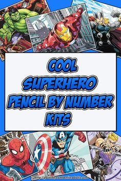 If have a favorite superhero or you're into all the Superhero comics and movies you're going to love these Superhero Pencil by Number Kits.This is a fun relaxing rainy day project and would make a perfect gift for yourself or as a gift for a Marvel superhero fan.