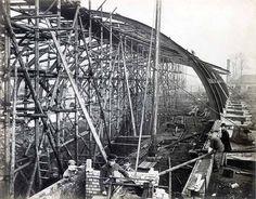 Gloucester Road Station under construction, 1866.