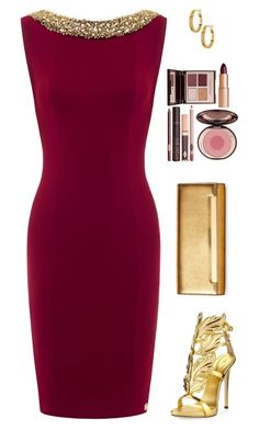 """Sin título #3924"" by mdmsb ❤ liked on Polyvore featuring Giuseppe Zanotti, Yves Saint Laurent, Charlotte Tilbury and Argento Vivo"