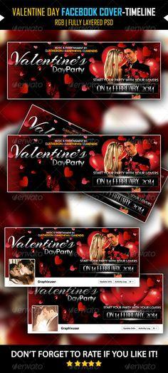 Valentine Day Facebook Cover V03 -Timeline Cover  #GraphicRiver