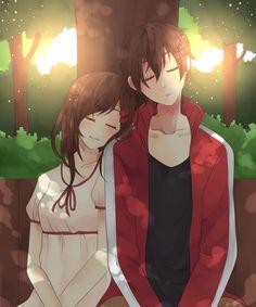 Anime couple- ayano x shintaro how i miss my exboyfriend B.M but i cant change his thoughts about me Sad Anime, Anime Manga, Kawaii Anime, Anime Boy Sketch, Anime Art Girl, Anime Couples Manga, Cute Anime Couples, Outline Art, Kagerou Project