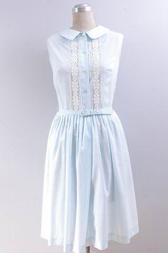 Vintage 1950s Peter Pan Collar Day Dress // by DeerfieldVintage