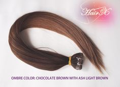 Tape hair extensions Straight 22  Color Ombre 4-12 by hairx on Etsy, $128.00