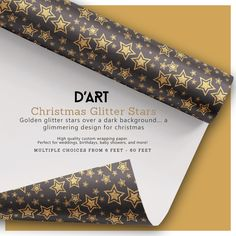 Golden glitter stars over a dark background... a glimmering design for christmas... #stars #glitter #glimmering #bling #christmas #xmas #holidays #december #gifts #presents #christmasglitter #wrappingpaper #glimmeringstars #goldenstars #zazzle #zazzler #zazzleshop #digitalartacreations