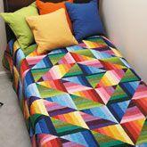 Dimples Strata Quilt Kit from ShopFonsandPorter...