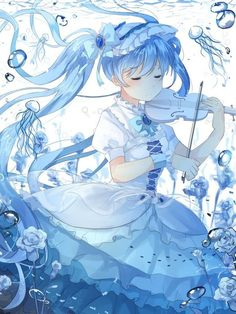 Read Artist Gomzi - Anime girl from the story [SƯU TẦM] Anime Art by Convalaria (Linh Lan) with reads. Pixiv ID : 1023317 Miku Chibi, Anime Chibi, Kawaii Anime, Art Manga, Anime Art Girl, Anime Girls, Beautiful Anime Girl, Anime Love, Anime Blue Hair
