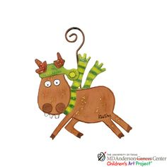 MD Anderson Ksusha's Reindeer Ornament - The Round Top Collection C9123