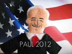 Daniel and Marianne. Ron Paul Felt Finger Puppet. $12.00, via Etsy.