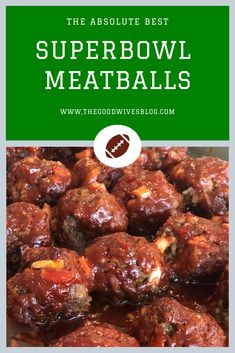 The Absolute Best Superbowl Meatballs These are the BEST meatballs you will ever have. They will fill your home with a sweet smoky BBQ aroma that will have you dreaming of a backyard cookout and your guests begging for more. Football Party Foods, Football Food, Superbowl Party Food Ideas, Best Superbowl Food, Best Meatballs, Party Meatballs, Appetizer Recipes, Appetizers Superbowl, Healthy Appetizers