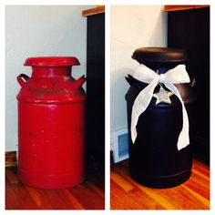 Country Decor - restored milk can