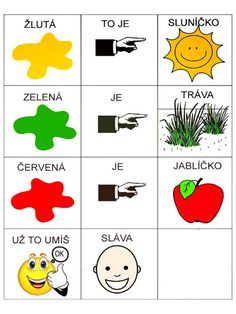 Pro Šíšu: Pracovní listy BARVY TVARY Montessori, Worksheets, Language, Education, Logos, Kids, Pictures, Speech Language Therapy, Projects To Try