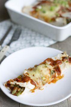 Recept voor enchilada's met kip en sperziebonen   Via BrendaKookt.nl