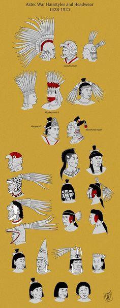 Aztec Warrior Hairstyles by http://Kamazotz.deviantart.com on @DeviantArt