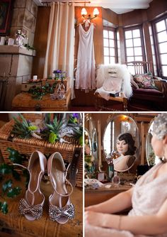 Old Hollywood Glamour for a Russian Bride and her Medieval Castle Wedding...
